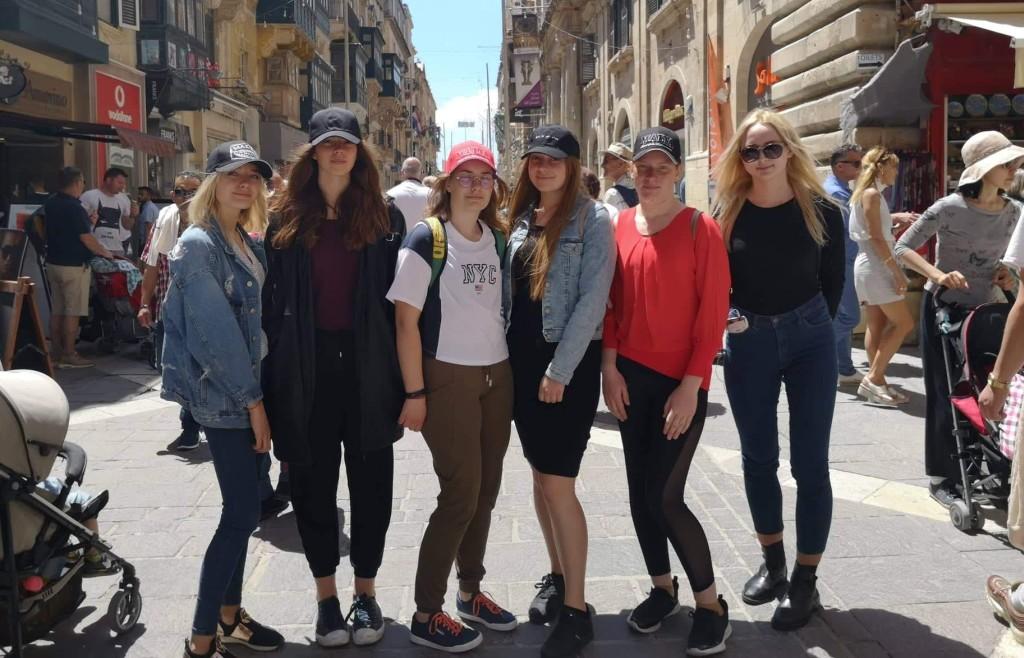 Prasidėjo mokinių stažuotė Maltoje