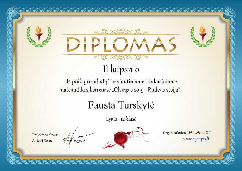 """Tarptautinis matematikos konkursas """"Olympis 2019"""""""